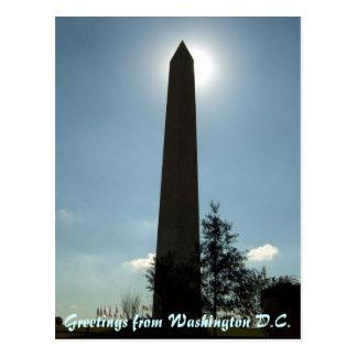 Carte postale de monument de Washington