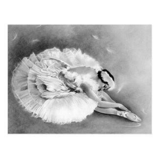 Carte postale de mort de cygne de ballerine