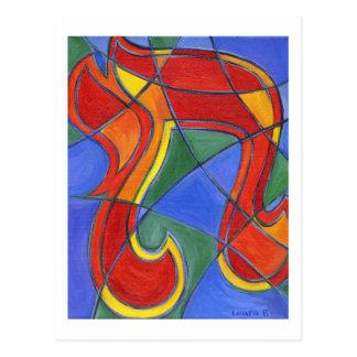 Carte postale de mosaïque de Chai