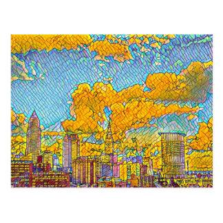 Carte postale de mosaïque de Cleveland Ohio