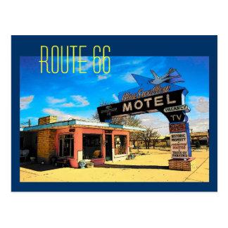 Carte postale de motel de l'itinéraire 66 -