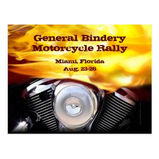 Carte postale de moteur de moto