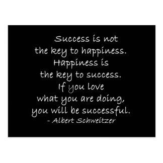 Carte postale de motivation de citation de bonheur