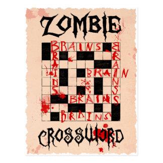 Carte postale de mots croisé de zombi
