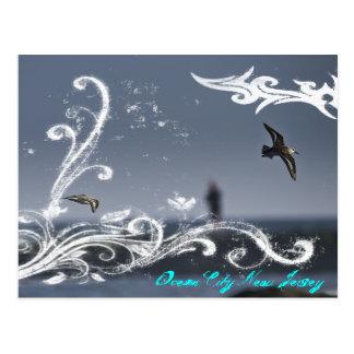 Carte postale de mouette en vol