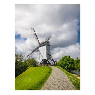 Carte postale de moulin à vent de Bruges