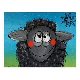 """carte postale """"de moutons noirs"""""""