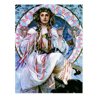Carte postale de Mucha :   Alphonse Mucha - Slavia