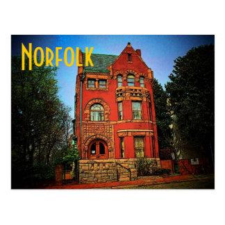Carte postale de musée de la Norfolk