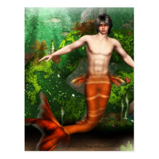 Carte postale de natation de triton