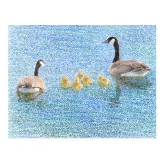 Carte postale de nature de beaux-arts de famille