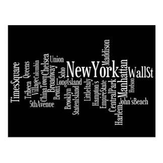 Carte postale de New York
