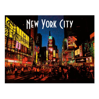 Carte postale de New York City (néon)