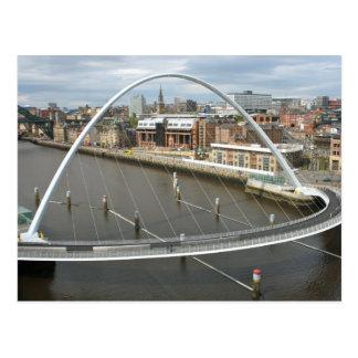 Carte postale de Newcastle Angleterre de pont de