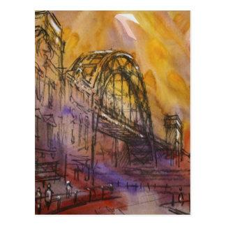 Carte postale de Newcastle de pont de Tyne