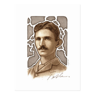 Carte postale de Nikola Tesla