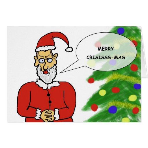 Carte postale de Noël amusante