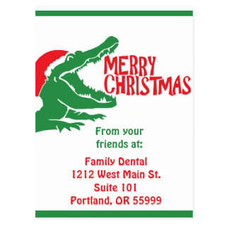 Carte postale de Noël d'alligator