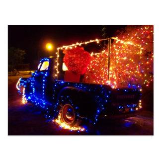 Carte postale de Noël de camion pick-up de Noël de