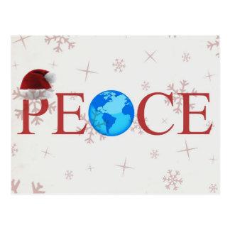 Carte postale de Noël de la terre de paix