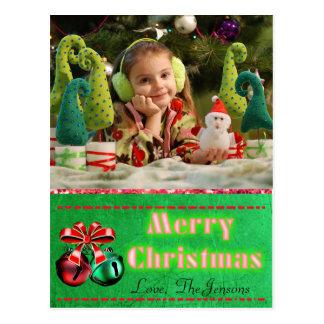 Carte postale de Noël de tintements du carillon