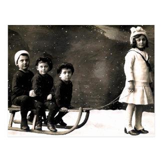 carte postale de Noël des années 1920