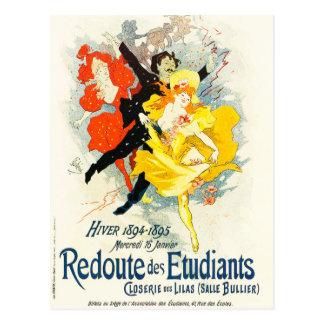 Carte postale de Nouveau d'art de Jules Cheret