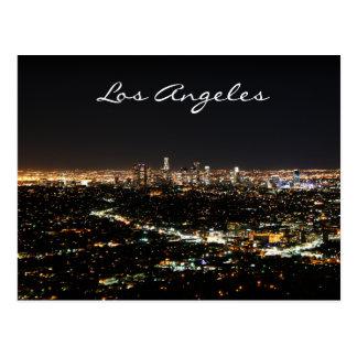 Carte postale de nuit de Los Angeles