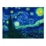 Carte postale de nuit étoilée