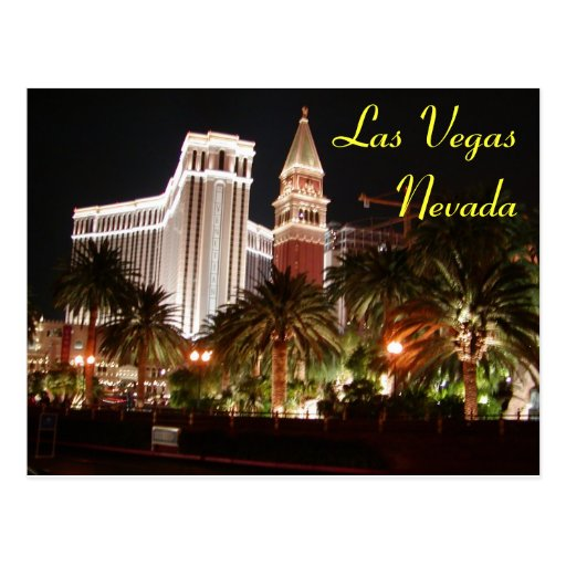Carte postale de nuits de Vegas