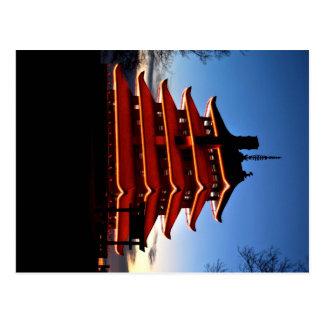 Carte postale de pagoda