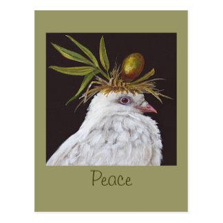 Carte postale de paix avec la colombe