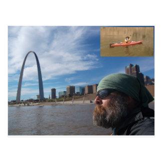 Carte postale de palette du fleuve Missouri