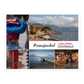 Carte postale de Panajachel, Guatemala