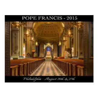 Carte postale de pape Francis Philadelphie