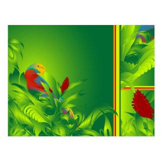 Carte postale de paradis d'O d'oiseau