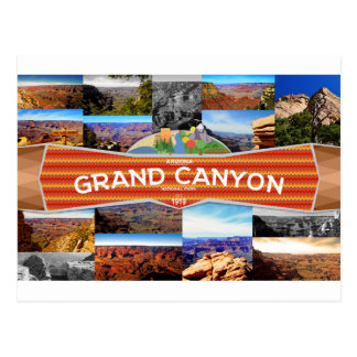 Carte postale de parc national de canyon grand