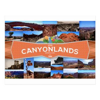 Carte postale de parc national de Canyonlands