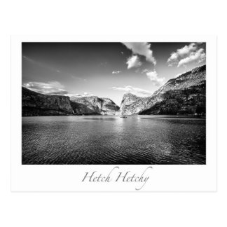 Carte postale de parc national de Hetch Hetchy