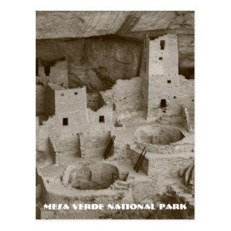 Carte postale de parc national de MESA Verde
