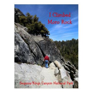 Carte postale de parc national de séquoia de roche