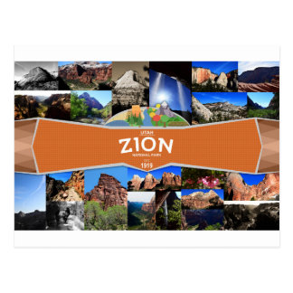 Carte postale de parc national de Zion