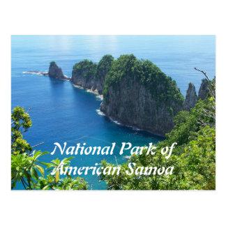 Carte postale de parc national des Samoa