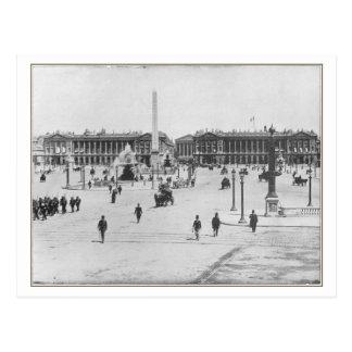Carte postale de Paris, Place de la Concorde