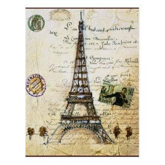 CARTE POSTALE de PARIS vintage