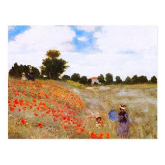 Carte postale de pavots de Monet