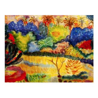 Carte postale de paysage de Gauguin Tahitian