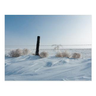 Carte postale de paysage d'hiver