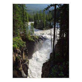 Carte postale de paysage du Canada de jaspe de