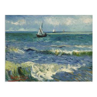 Carte postale de paysage marin de Van Gogh